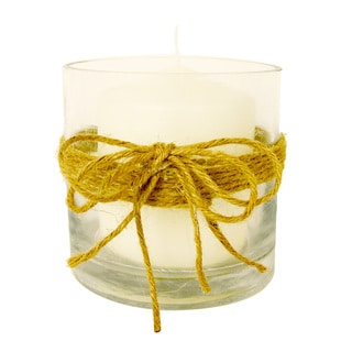 Votive Candle with Twine Rope
