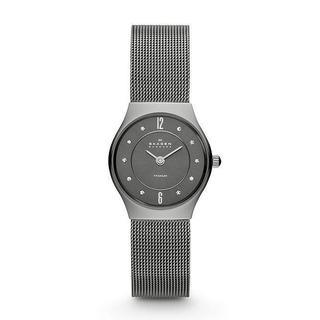 Skagen Women's 233XSTTM Slimline Mesh Titanium Crystal Watch