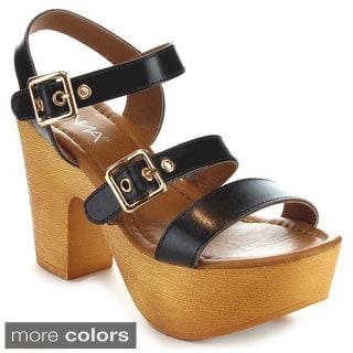 Anna Miley-8 Women's Buckle Strap Sandals