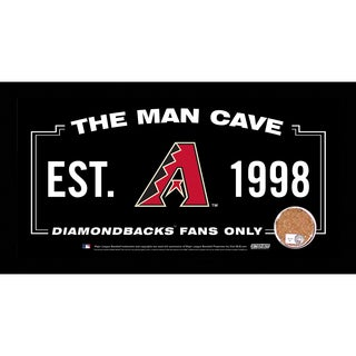 Arizona Diamondbacks Man Cave Sign 6x12 Framed Photo With Authentic Game-Used Dirt (MLB Authenticated)