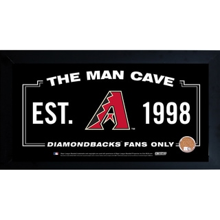 Arizona Diamondbacks Man Cave Framed 10x20 Sign w/ Authentic Game-Used Dirt (MLB Auth)