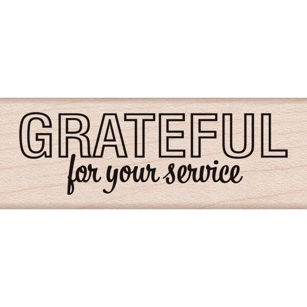 "Hero Arts Mounted Rubber Stamp 2.75""X1""-Grateful For Your Service 15153520"