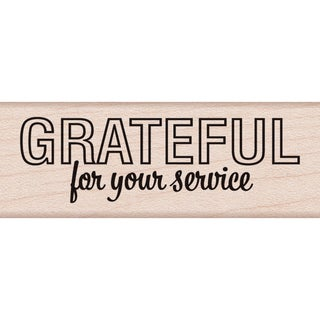 "Hero Arts Mounted Rubber Stamp 2.75""X1""-Grateful For Your Service"