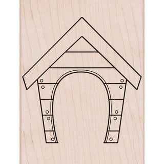 "Hero Arts Mounted Rubber Stamp 4.25""X3.25"" -Dog House"