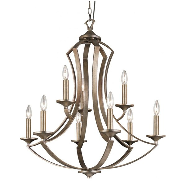 Cambridge 9-Light Bronze 29 in. Chandelier
