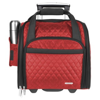 Travelon 14-inch Quilted Wheeld Underseat Carry-On Rolling Tote Bag