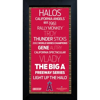 Los Angeles Angels of Anaheim Subway Sign 6x12 Framed Photo