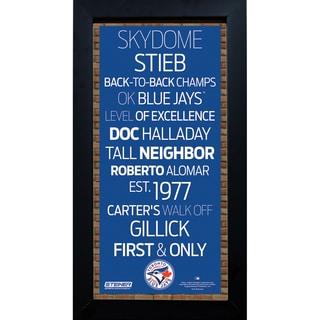 Toronto Blue Jays Subway Sign 6x12 Framed Photo