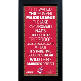 Cleveland Indians Subway Sign 6x12 Framed Photo