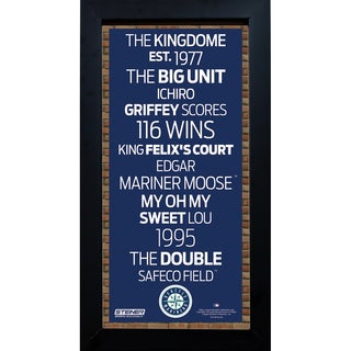 Seattle Mariners Subway Sign 6x12 Framed Photo
