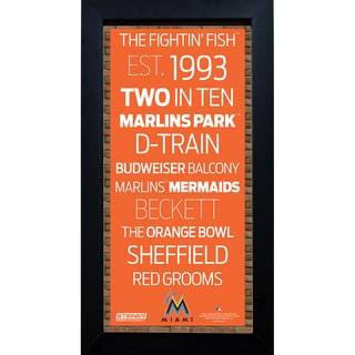Miami Marlins Subway Sign 6x12 Framed Photo