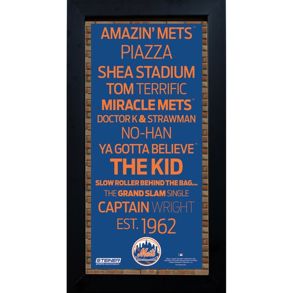New York Mets Subway Sign 6x12 Framed Photo