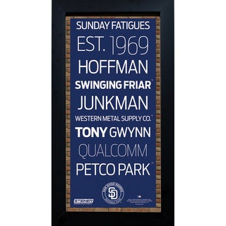 San Diego Padres Subway Sign 6x12 Framed Photo