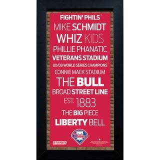 Philadelphia Phillies Subway Sign 6x12 Framed Photo
