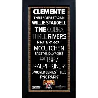 Pittsburgh Pirates Subway Sign 6x12 Framed Photo