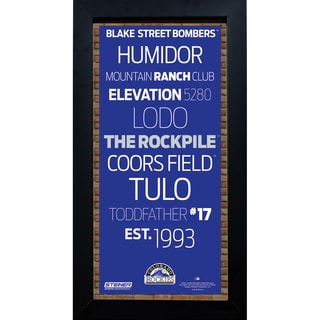 Colorado Rockies Subway Sign 6x12 Framed
