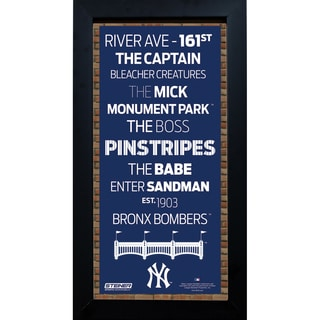New York Yankees Subway Sign 6x12 Framed Photo