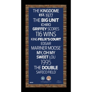 Seattle Mariners Subway Sign Wall Art 9.5x19 Frame w/ Authentic Dirt from Safeco Field