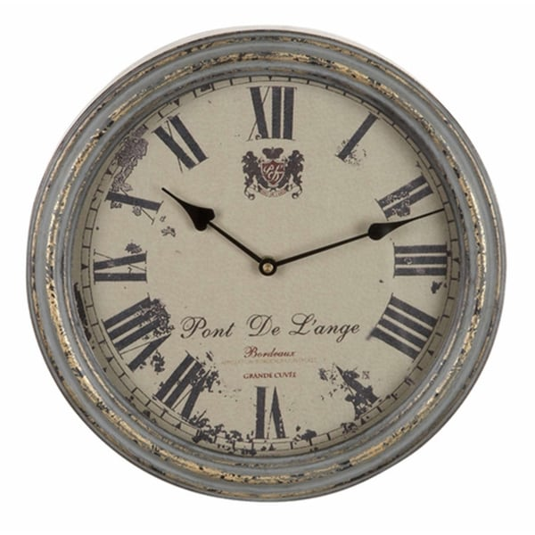 Metal Vintage Metallic Wall Clock
