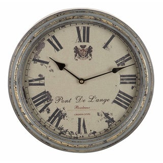 Metal Vintage Metallic Wall Clock