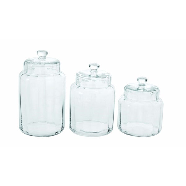 Glass Simple Kitchen Jar Set