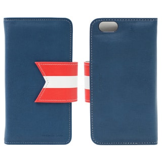 HAPPYMORI Reason Ave. Navy Faux Leather Phone Case for Apple iPhone 6