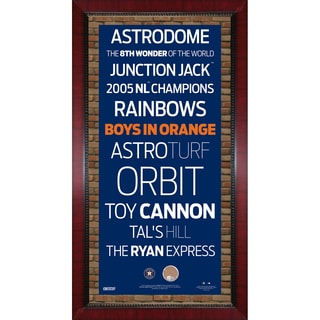Houston Astros Subway Sign Wall Art 16x32 Frame w/ Authentic Dirt from Minute Maid Park