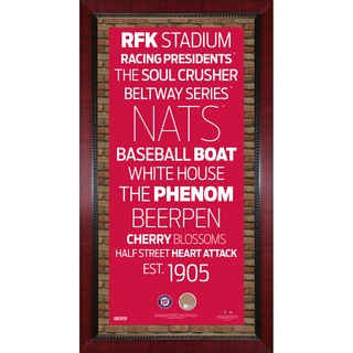 Washington Nationals Subway Sign Wall Art 16x32 Frame w/ Authentic Dirt from Nationals Park