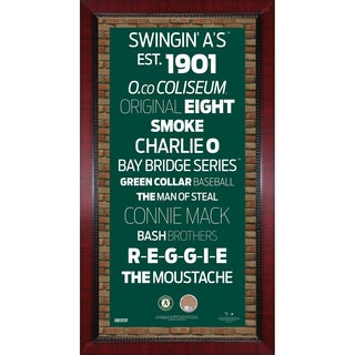 Oakland Athletics Subway Sign Wall Art 16x32 Frame w/ Authentic Dirt from O.co Coliseum
