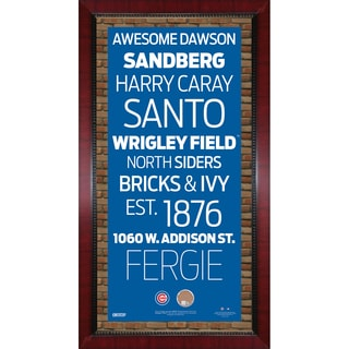 Cubs Subway Sign 16x32 Frame w/ auth Dirt from Wrigley Field
