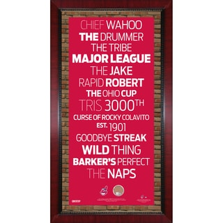 Cleveland Indians Subway Sign Wall Art 16x32 Frame w/ Authentic Dirt from Jacobs Field