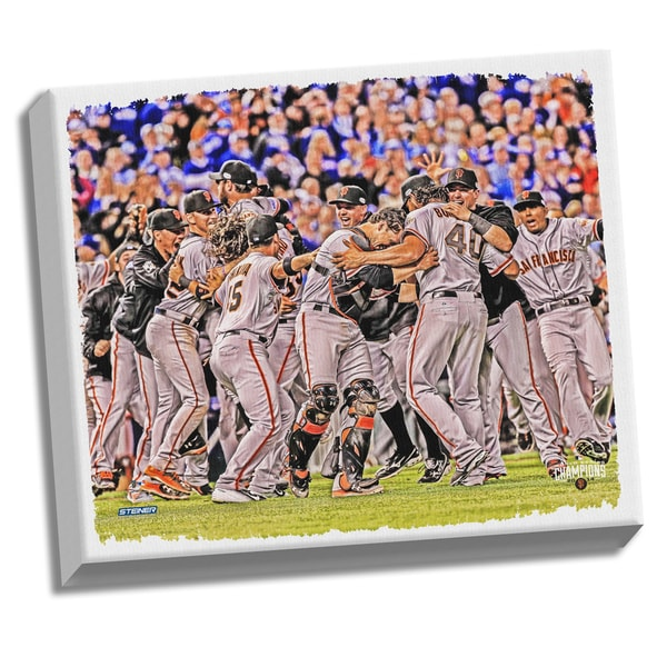 San Francisco Giants 2014 World Series Champions 22x26 Celebration Canvas