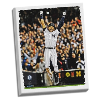 Derek Jeter Final Yankee Moment 22x26 Stretched Canvas