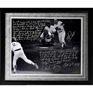 Bucky Dent & Mike Torrez Facsimile '1978 Walk-Off Home Run' Framed Metallic 16x20 Story Photo