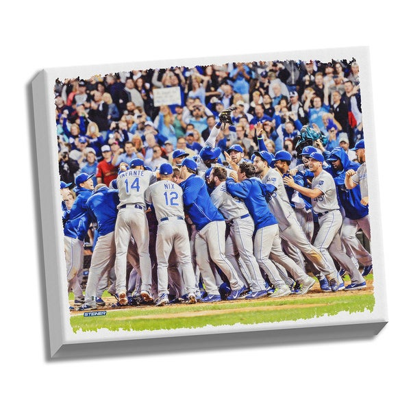 Kansas City Royals Wild Card Berth Celebration Sept 26, 2014 22x26 Stretched Canvas