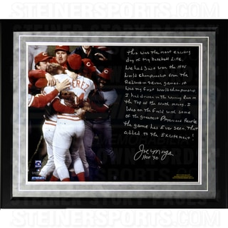 Joe Morgan Facsimile 'Big Red Machine' Framed Metallic 16x20 Story Photo