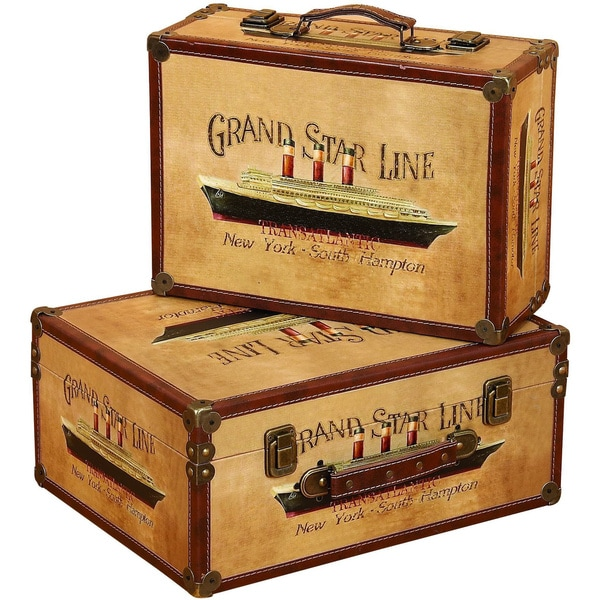 Wooden Storage Box Set (Set of 2)