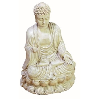 White Polystone Buddha Sculpture