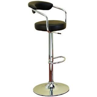Chrome Vinyl Bar Chair