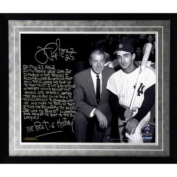 Joe Pepitone Facsimile 'About Joe DiMaggio' Framed Metallic 16x20 Story Photo