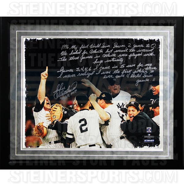 John Wetteland Facsimile '1996 World Series' Framed Metallic 16x20 Story Photo