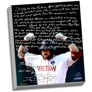 Jonny Gomes Facsimile 'Boston Strong' Stretched 22x26 Story Canvas