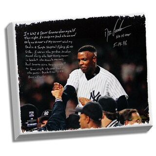 Doc Gooden Facsimile 'Yankees No-Hitter' Stretched 22x26 Story Canvas