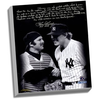 Goose Gossage Facsimile 'Thurman M on' Stretched 22x26 Story Canvas
