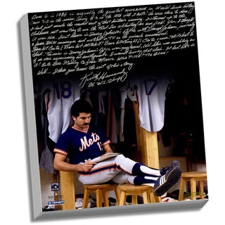 Keith Hernandez Facsimile '86 Buckner Game' Stretched 22x26 Story Canvas