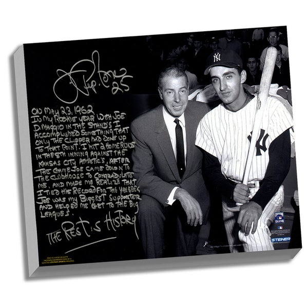 Joe Pepitone Facsimile 'About Joe DiMaggio' Stretched 22x26 Story Canvas