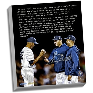 Andy Pettitte Facsimile 'Taking Out Mo' Stretched 22x26 Story Canvas