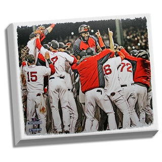 Boston Red Sox 2013 WS Celebration Pile Up 32x40 Stretched Canvas