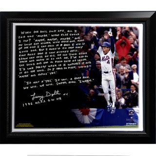 Lenny Dykstra Facsimile '86 NLCS Walk-Off HR' Stretched Framed 22x26 Story Canvas