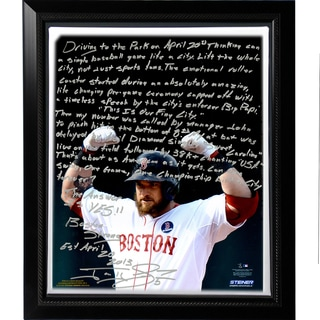 Jonny Gomes Facsimile 'Boston Strong' Story Stretched Framed 22x26 Canvas
